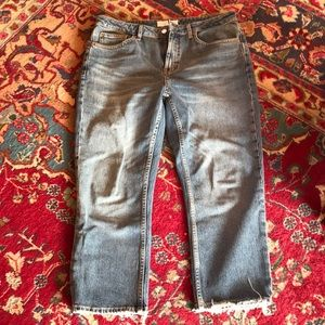Topshop straight jeans. Size 32